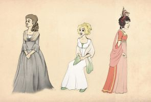Pride and Prejudice Ladies by FangsAndNeedles
