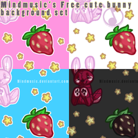 Cute Bunny Background by Mindmusic
