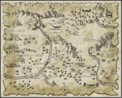 Hero Fighter World Map by OverlordHunter