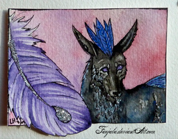 ACEO 25 - Feathers by Faejala