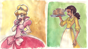 Lottie and Tiana by TaijaVigilia
