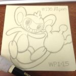 Post-it Note Pokemon #190 Aipom by WillPetrey