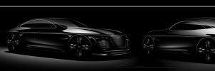 Audi A9 Sketches by ALIDESING