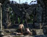 Temple of Eladria Statue by chrisryder123