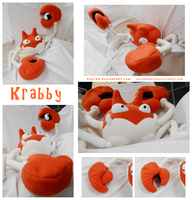 Giant Krabby Plush by Fox7XD