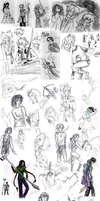 DnD doodles by persephone-the-fish