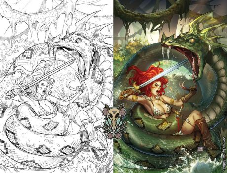 Red Sonja issue 8 cover by ToolKitten