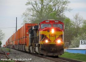 Freshly painted Southern Belle MAC 3936 leads Q106 by EternalFlame1891