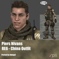 Piers Nivans RE6 China Outfit by Adngel