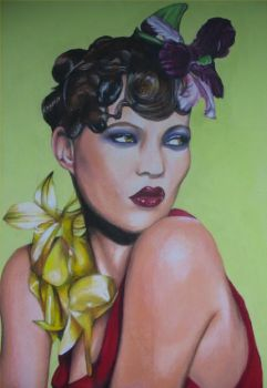 Flapper Kate Moss by thewhocaresgirl