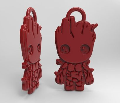 3D  baby Groot pendant by MichaelEastwood