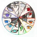 Naruto Characters Eye Rainbow by SilverDust20383