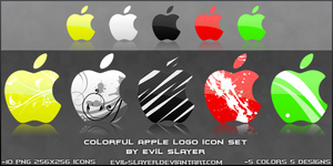 Colorful Apple Logo Icon Set by Evil-Slayer
