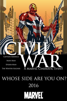 Captain America: Civil War (Movie Poster) by RobertoJOEL1307
