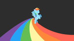 Rainbow Dash Wallpaper (Excal's Birthday Surprise) by ShiroPoint