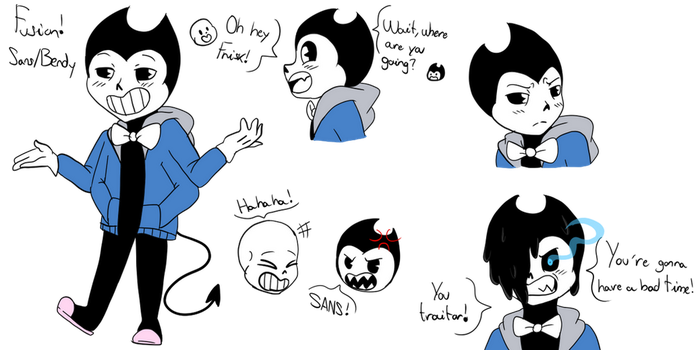 Fusion Sans and Bendy by Barbarathebunny