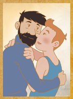 Tintin-Haddock by Red-Space