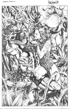 Mico Suayan: Batman and Poison Ivy by comiconart