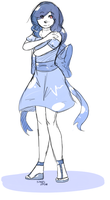 little blue dress. by xBadgerclaw