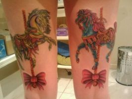 Carousel Horses Tattoo by Queeki