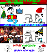 Merry Christmas and Happy New Year -Rage Comic by Albowtross91
