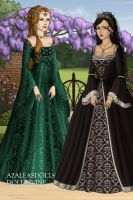 Hurrem Sultan and Princess Isabella by May-May44