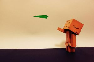 Day 048 - Fly, little paper plane by M-o-e