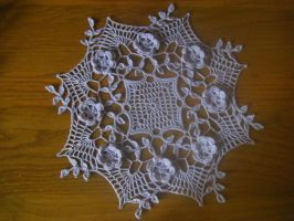 Lavender Rose Doily by koepr5333