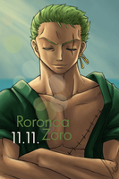 11.11. - Happy Birthday, Roronoa! by LadyTashigi
