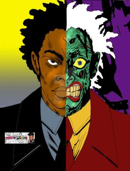 African-American Two-Face by WestIndianRockr