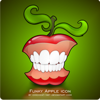 Funky Apple Dock Icon by chicho21net