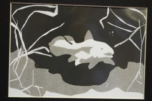 Coelacanth photogram by Blue-Paper