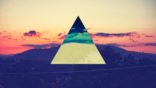Sunset Triangles by jakndaxta