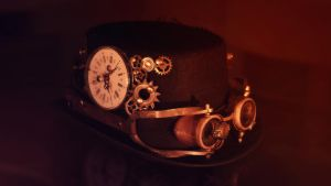Steampunk Hat and Goggles by Tybtsee