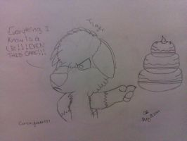 Canarylover's request 2 of 2- Tiger and a cake by RIO4ever1