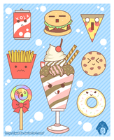 Unhealthy Foods by Yuuhiko