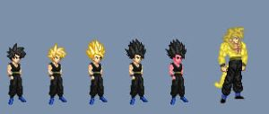 Forms of Gohan LotAD by Omegatank