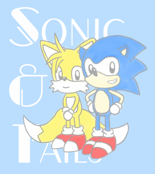 Sonic and Tails Colored by JamminJams
