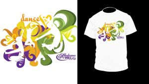 Tshirt design for Dance School by pokadotspider