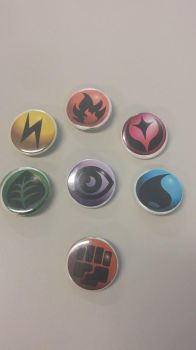 Pokemon Energy Pinback Buttons 1.25 by adriley313