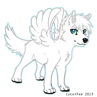 Chibi Angel by LuckyPaw