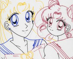 Happy Birthday, Usagi+Chibiusa! 2014 by YuniNaoki