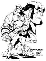 Mike Wieringo's Hellboy by NORVANDELL
