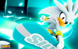 Silver The Hedgehog Snowboarding Wallpaper by SonicTheHedgehogBG