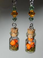 Jack O' Lantern Mini Pumpkin Earrings by Secretvixen