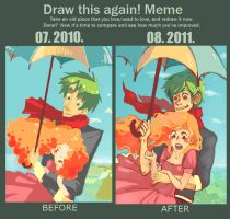 Draw this again meme by LilianFork