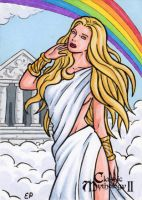 Iris Sketch Card - Classic Mythology II by ElainePerna