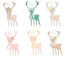 Deer Adoptables by Emma-Hope