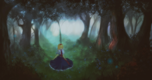 In forest by Nessa-sama