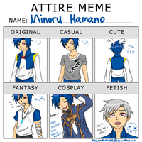 Attire Meme - OC: Minoru - by EnzanBlues456